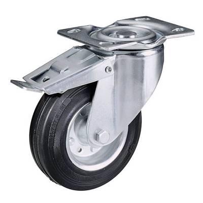 Foto de Ruedas con núcleo en lámina de acero zincado y cubierta de goma