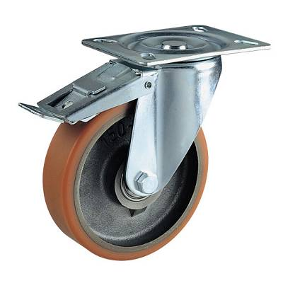 Foto de Ruedas con núcleo de fundición de hierro y cubierta de poliuretano