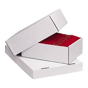 Foto de Caja de cartón telescópica reforzada blanca
