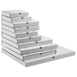 Foto de Caja postal blanca para productos planos
