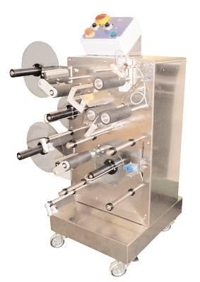 Foto de Etiquetadoras adhesivas semiautomáticas de banco