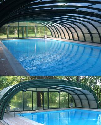 Foto de Cubiertas altas para piscinas