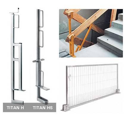Sistemas de protecci n de bordes de aluminio y soportes de - Barandillas de obra ...