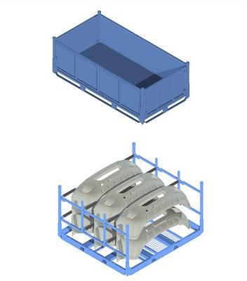 Contenedores met licos apilables para embalaje nefab - Contenedores metalicos apilables ...