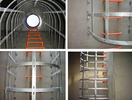 Foto de Jaula de seguridad para escaleras en espacios confinados
