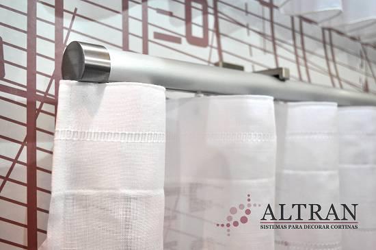 Rieles decorativos redondos de aluminio altran obidos for Rieles de aluminio para toldos