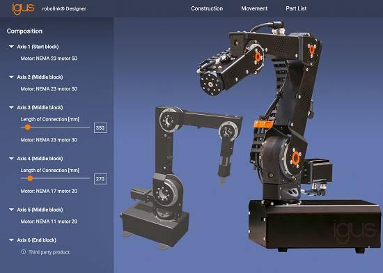Foto de Engranajes, motores y elementos de conexión para robots industriales