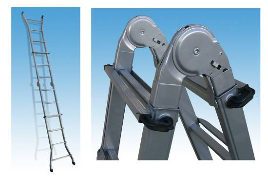 Foto de Escaleras telescópicas en acero pintado multiposición