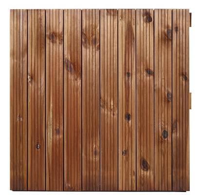 Foto de Losas de madera ranuradas