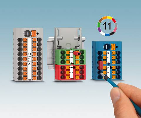 Foto de Bloques de distribución listos para conectar con conexión push-in