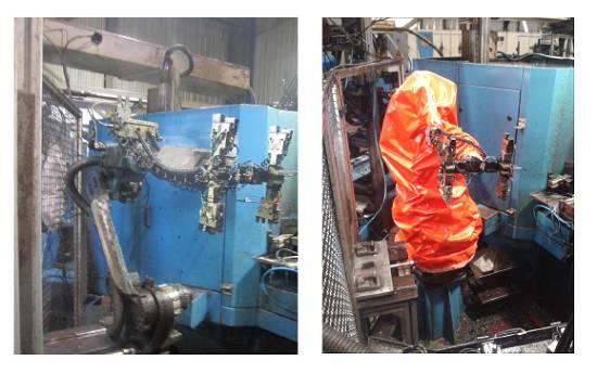 Foto de Fundas para robots en procesos de mecanizado