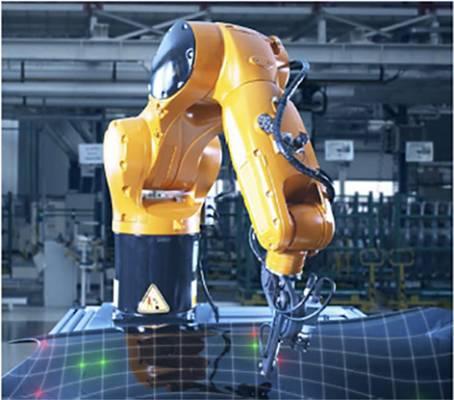 Foto de Robot para medición del espesor sin contacto