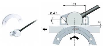 Foto de Transductores de posición lineal, o rotativo mediante engranajes