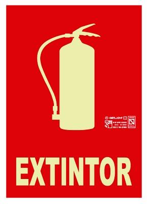 Foto de Señales extintor con texto