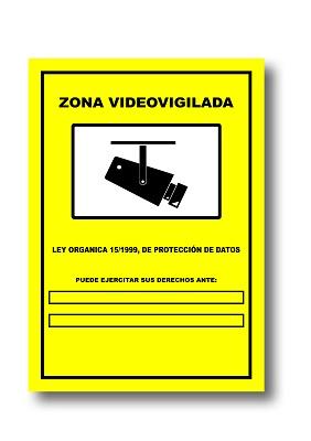 Foto de Carteles de zona videovigilada