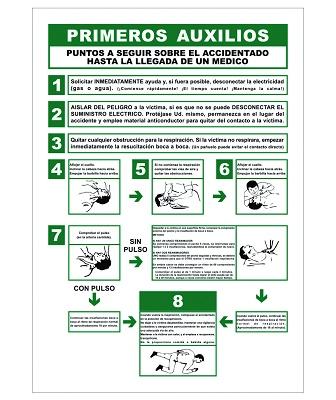Foto de Carteles de primeros auxilios