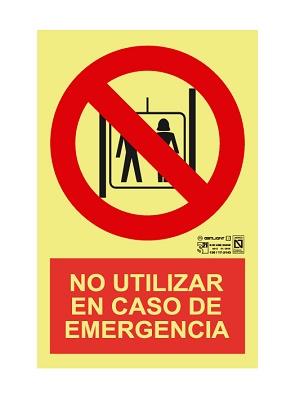 Foto de Señalización 'No utilizar en caso de emergencia'