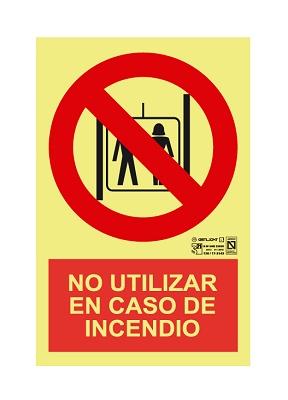 Foto de Señalización 'No utilizar en caso de incendio'