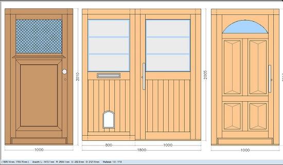 Foto de Software de diseño para puertas macizas de entrada