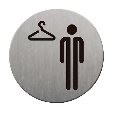 Foto de Placas informativas de vestuario masculino