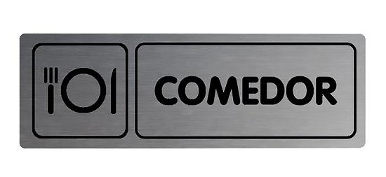 Foto de Placa informativa rectangular comedor