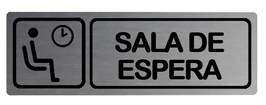 Foto de Placa informativa rectangular sala de espera