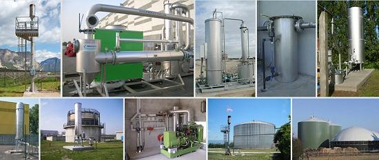 Foto de Equipos para tratamiento del biogás y sector eco-hidráulico