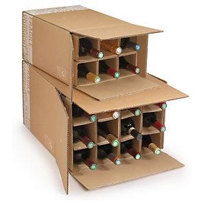 Foto de Caja para envío de botellas con celdas reforzadas