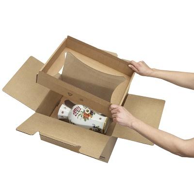 Foto de Cajas de cartón que mantienen el producto en suspensión