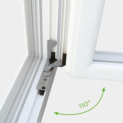 Foto de Sistema con bisagra invisible y abertura a 110°