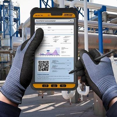 Foto de Tablet industrial para lugares peligrosos