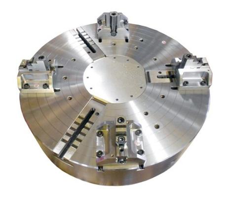 Foto de Platos automáticos de 3 garras y 4 bloques para piezas Oil & Gas