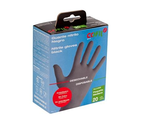Foto de Pack de guantes de nitrilo negro