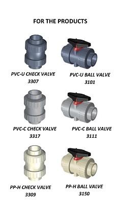 Foto de Fittings para válvulas de bola y de retención