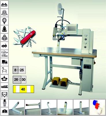 Foto de Máquina de aplicar cinta de sellado en las costuras