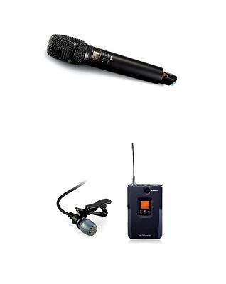Foto de Micrófonos inalámbricos de mano y de solapa con pinza