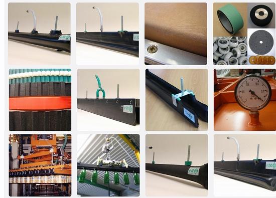 Foto de Elementos para paletizar y despaletizar en mesas transportadoras de botellas