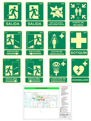 Foto de Señalización de planos de evacuación