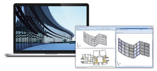 Foto de Software para fachadas singulares, muros de cortina y cortinas de cristal