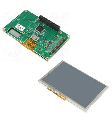 Foto de Módulos TFT conectados al puerto GPIO de Raspberry Pi