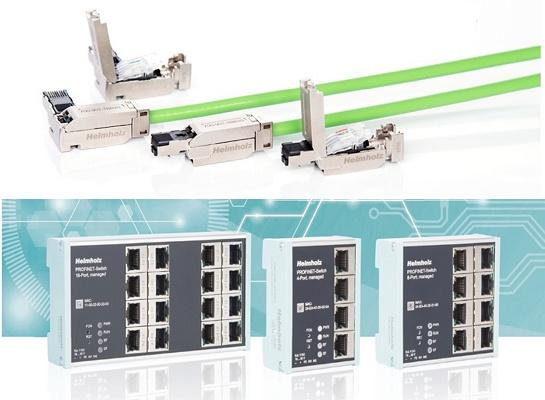 Foto de Switch y conectores Profinet para automatización industria 4,0