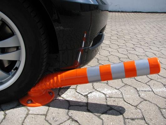 Foto de Poste flexible naranja