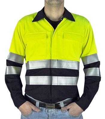 Foto de Camisas ignífugas antiestáticas de alta visibilidad
