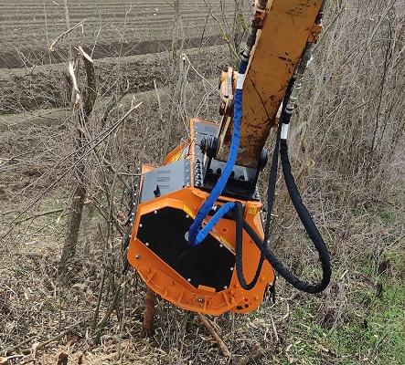 Foto de Cabezales desbrozadores - trituradores hidráulicos
