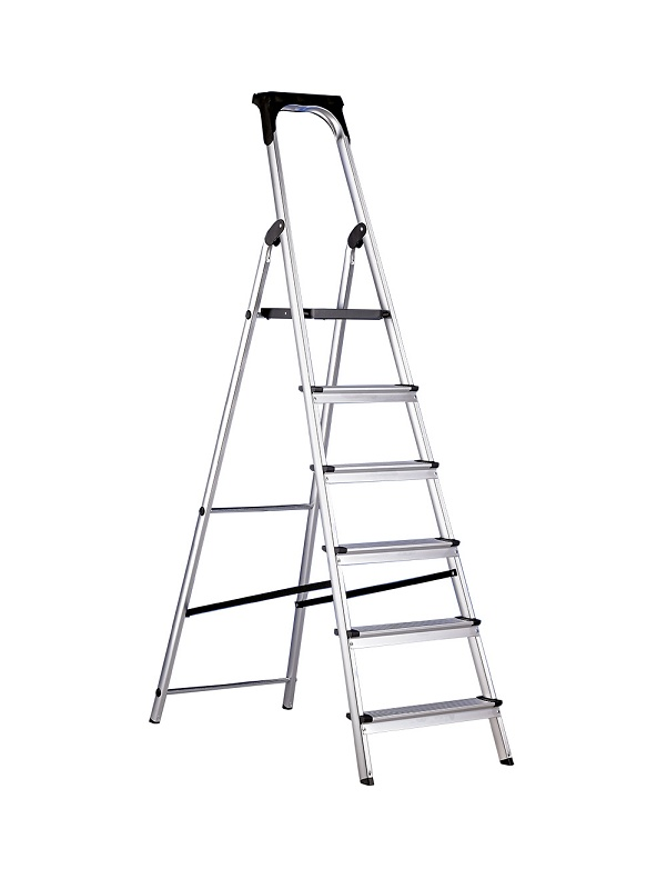Foto de Escaleras domésticas de aluminio con portaherramientas