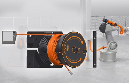 Foto de Enrollador de cable de principio a fin sin colector