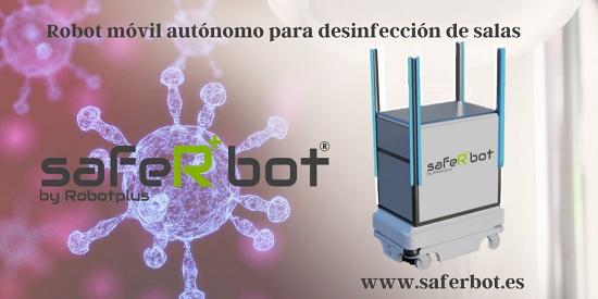Foto de Robot móvil de desinfección ultravioleta