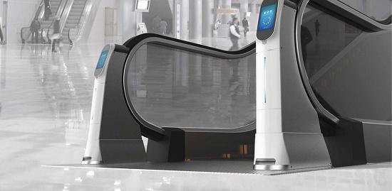 Foto de Sistema de desinfección y limpieza automática de pasamanos