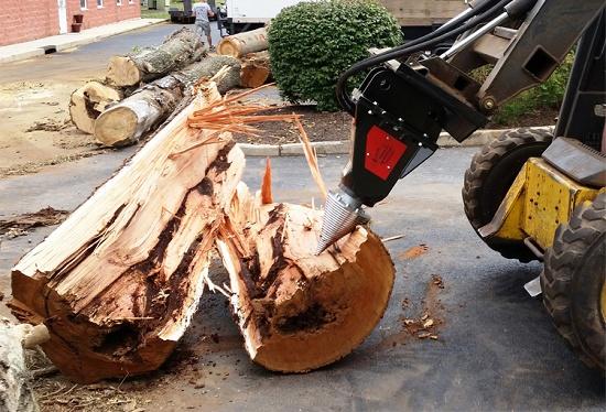 Foto de Partidores de troncos hidráulicos