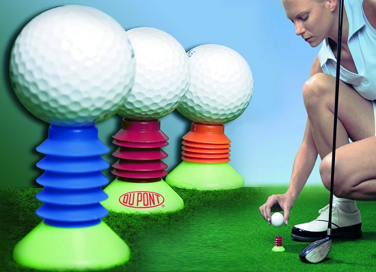 "Foto de ""Un tee de golf flexible"""